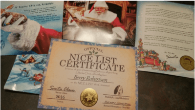 Keep Your Child Believing With a Personalized Package From Santa