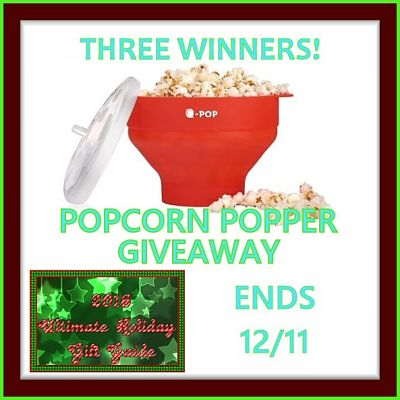 Three lucky readers will #win a #U-POP Silicone Microwave Popcorn Popper when this Ultimate #GiftGuide #Giveaway Ends 12/11 ​