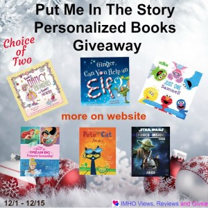 Put Me In The Story Personalized Books Giveaway Ends 12/15/16