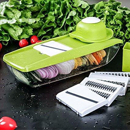 This 5-in-1 Mandolin Food Slicer/Shredder Makes Quick Work of Food Prep