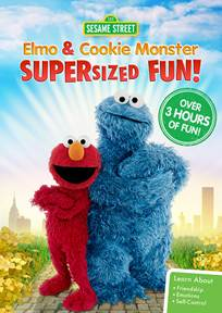 Press Release – Sesame Street: Elmo and Cookie Monster Supersized Fun – On DVD 4/4