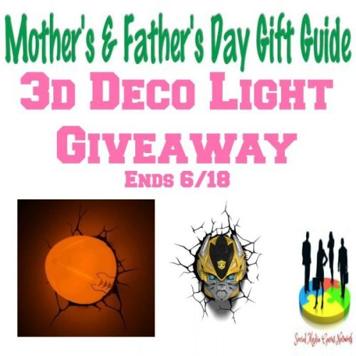 3d Deco Light Giveaway @SMGurusNetwork
