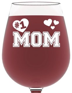 Best Valentine's Day Gift for Mom - #1 Mom Wine Glass