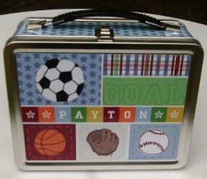 Kick, Score, Run! Personalized Lunch Box - Payton 1