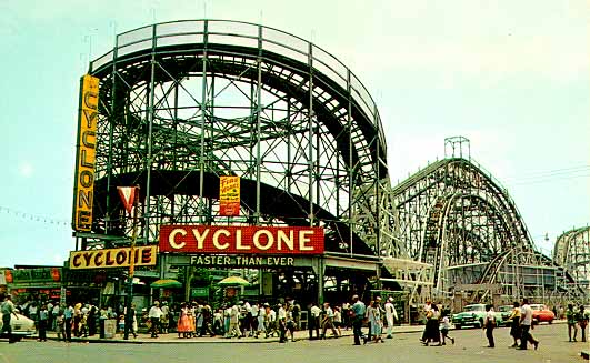 oney Island Cyclone - historic wooden roller coaster