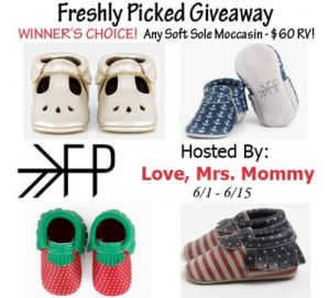 Winner's Choice – Freshly Picked Moccasins Giveaway Ends 6/15