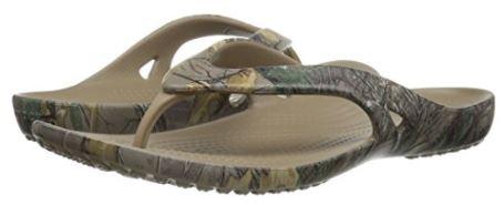 Crocs Women's Kadee Ii Realtree Xtra Flip Flops