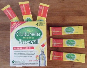 Taking Culturelle Pro-Well Immunity Probiotic Is Easy With Their Premeasured Packets