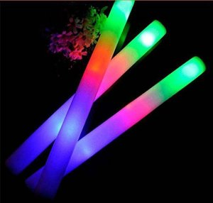 Add WOW to your Solar Eclipse Party, Fundraiser, or Sporting Event with these LED Light-Up Foam Sticks
