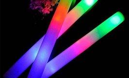 "Taotuo 30 PCS 19"" LED Light-Up Foam Sticks"