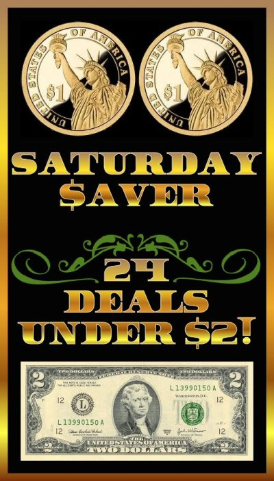 Saturday $aver 24 Deals Under $2 - Saving on Amazon