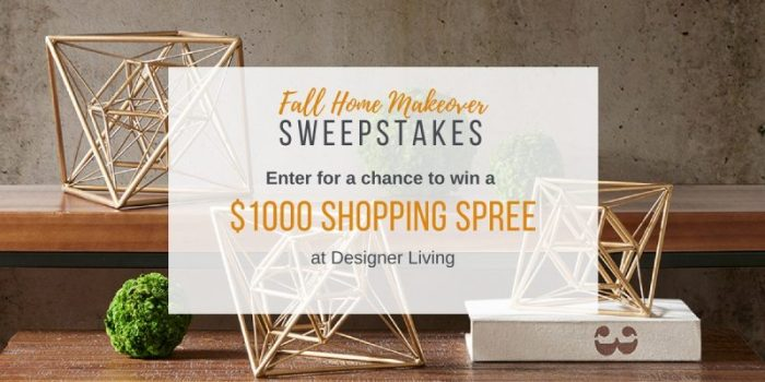 1000 Fall Home Makeover Sweepstakes Closed