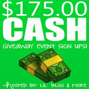 Blogger Opportunity: $175 Cash Giveaway Sign Ups End October 9, 2017