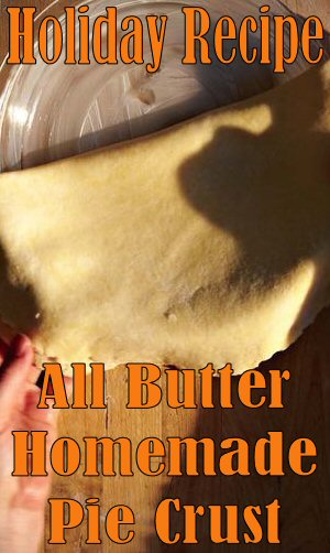 All Butter #Pie Crust #Recipe - This simple pie crust relies on butter for both its flakiness and wonderful flavor. This recipe is the one taught by King Arthur's instructors in their nationwide traveling baking demos. #Desssert #Holiday #Baking #Food