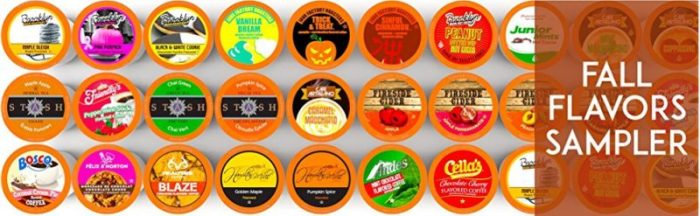 TRC Fall Flavors Sampler Pack - Fall Is In The Air Hop Fall Flavors Coffee Sampler Giveaway
