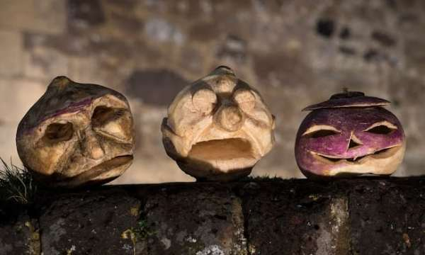 Turnip Carving - Legend of Stingy Jack O'Lantern and History of Jack-o-Lantern