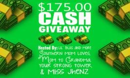 $175 Cash Giveaway Ends 11/14/17