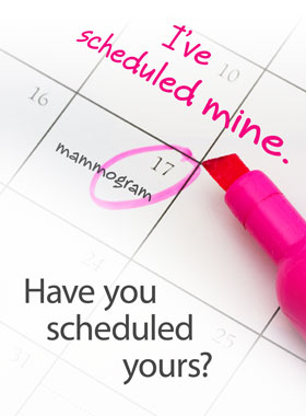 Breast Cancer Awareness Mammogram I've scheduled mine - Have you scheduled yours?