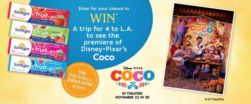 Win a Trip to See Disney·Pixar Coco Movie Premiere - Enter by 10/20/17