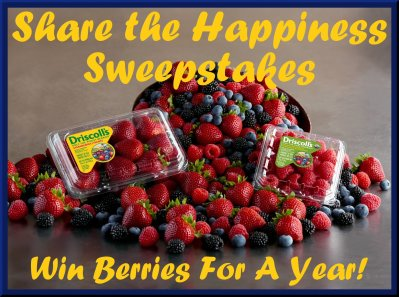 hare the Happiness Sweepstakes Win Driscoll's Berries For a Year