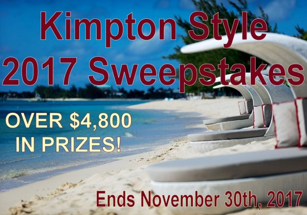 Win a 3-Night Stay at the Grand Cayman Kimpton Hotel, THE KIMPTON BED, AND MORE DROOL-WORTHY PRIZES