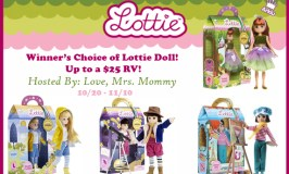Worldwide Winner's Choice of Lottie Doll Giveaway ends 11/10/17
