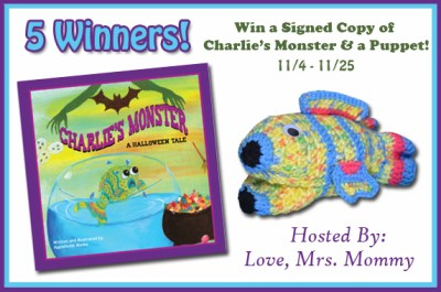 5 WIN a Signed Copy of Charlie's Monster: A Halloween Tale & a Puppet