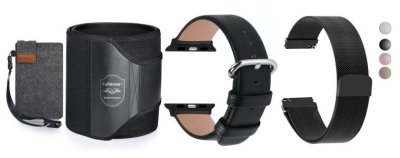 HOLIDAY GIFT GUIDE GIVEAWAY - 9 WIN Waist Trimmer and 2 Different Watch Bands Holiday Gift Guide Giveaway