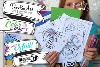 Doodle Art Greetings Cards by CraftyKizzy Holiday Gift Guide Giveaway! Ends 12/04