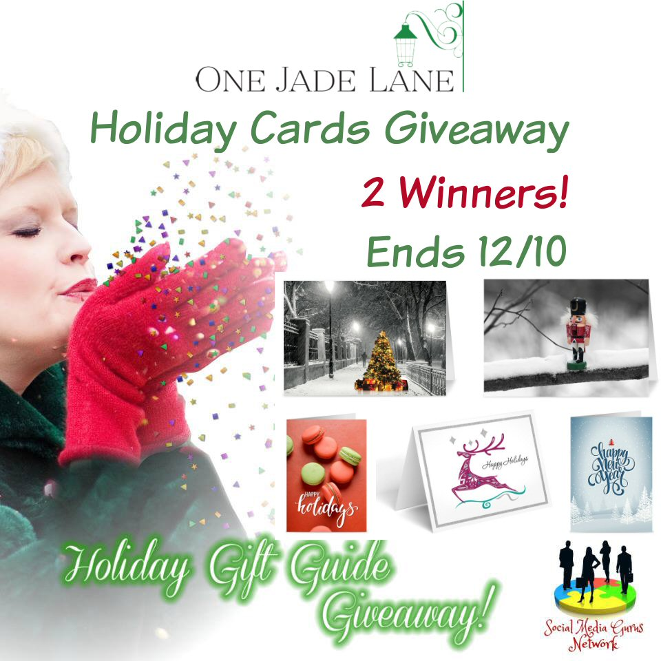 HOLIDAY GIFT GUIDE GIVEAWAY - One Jade Lane Holiday Cards Giveaway