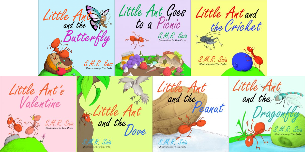 HOLIDAY GIFT GUIDE - Little Ant Paperback Series Giveaway - Seven Little Ant Series Children's Books