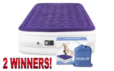 2 WINNERS Portable Airbed Mattress Giveaway