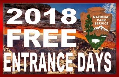018 FREE ENTRANCE DAYS - NATIONAL PARK SERVICE
