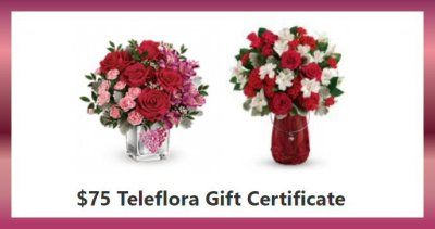 Teleflora #LoveOutLoud Valentine's Day Giveaway ~ $75 Gift Certificate
