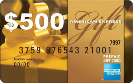 AmEx Gift Card $500 American Express