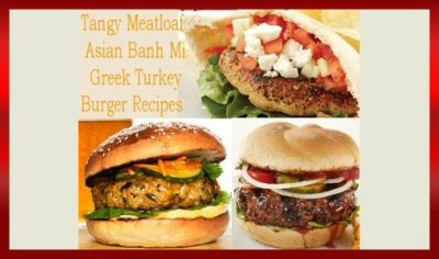 Super Bowl LII Tangy Meatloaf, Asian Banh Mi, and Greek Turkey Burger Recipes