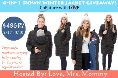 $496 GoFuture With Love 4-in-1 Down Winter Jacket Giveaway! Ends 3/10