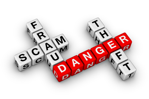 Is It A Scam Learn How To Spot a Scam - Scam Danger Scrabble Tiles