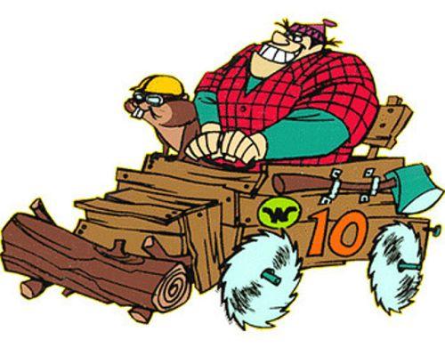 Wacky Races Rufus Ruffcut and Sawtooth