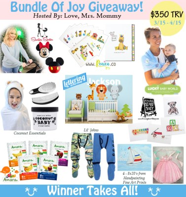 Bundle of Joy Giveaway! $350 in Baby Prizes! Ends 4/15