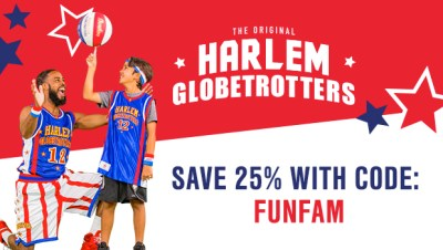 My Readers SAVE 25% on ALL Harlem Globetrotters Games!