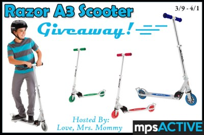 Winner's Choice of Razor A3 Scooter Giveaway