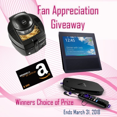 Worldwide Fan Appreciation Giveaway - Winner's Choice of Prize Valued up to $200