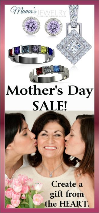 Give Mom the gift she deserves and save $$$ with this Mother's Day special offer from Mama's Jewelry! Mother's Ring, Pendant, Earrings