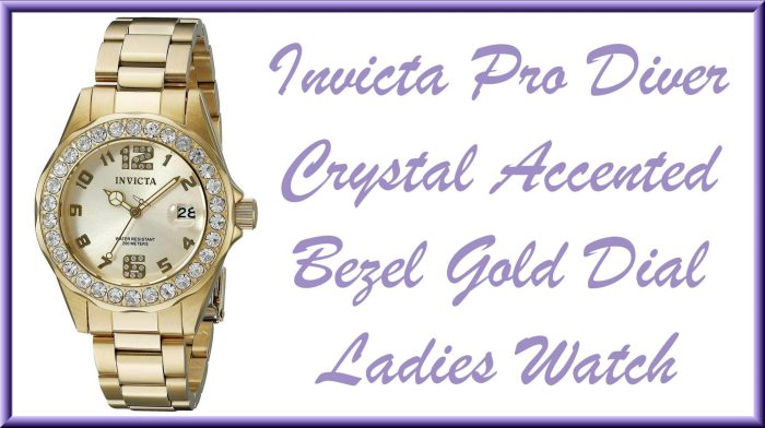 Last Minute Gift Ideas + $300 Mother's Day MyGiftStop Giveaway - Invicta 21397 Women's Pro Diver Crystal Accented Bezel Gold Dial Yellow Watch