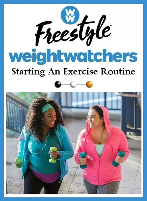Weight Watcher's FreeStyle Weight Loss Journey Starting An Exercise Routine