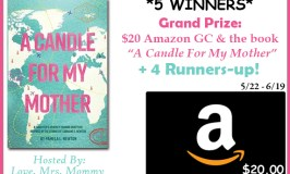 5 Win! A Candle For My Mother $20 Amazon Gift Card Giveaway Ends 6/19