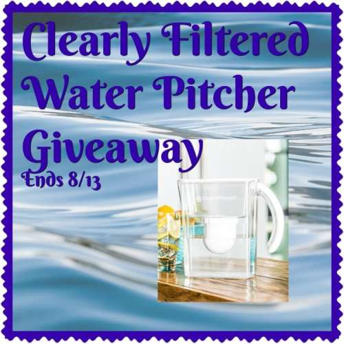 $225 Clearly Filtered Water Pitcher Giveaway Ends 8/13
