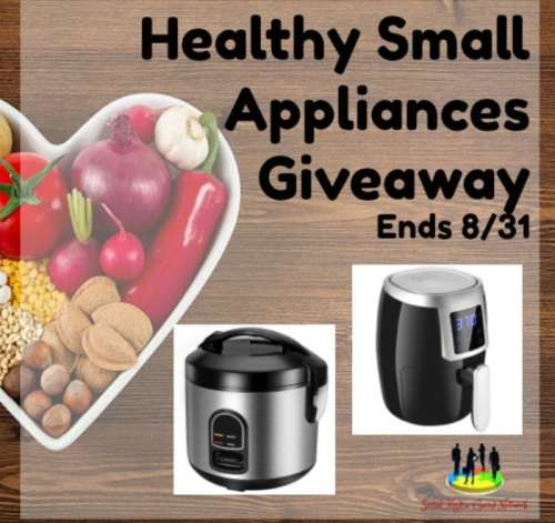 When this Healthy Small Appliances Giveaway ends 8/31, one lucky winner will receive both a mini rice cooker and air fryer.