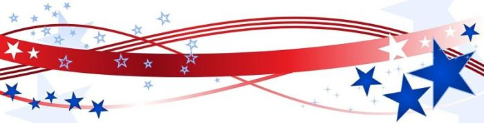 Red, White, and Blue Divider with stars